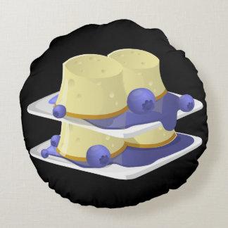Glitch Food flummery Round Pillow
