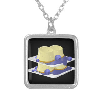 Glitch Food flummery Silver Plated Necklace