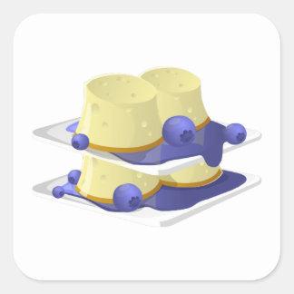 Glitch Food flummery Square Sticker