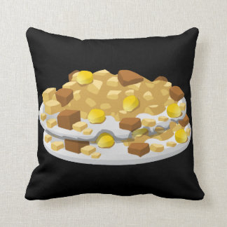 Glitch Food hash Throw Pillow