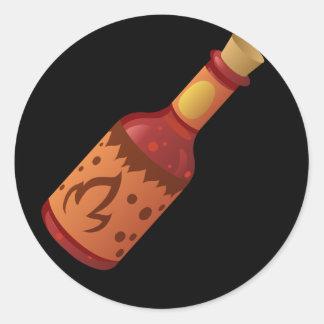 Glitch Food hot n fizzy sauce Classic Round Sticker