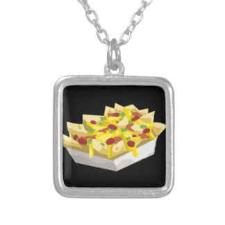 Glitch Food hungry nachos Silver Plated Necklace