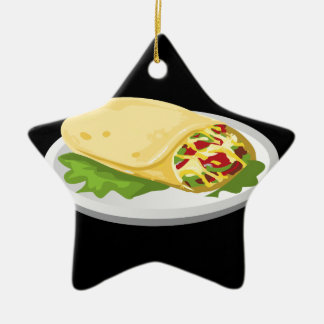 Glitch Food kind breakfurst burrito Ceramic Ornament