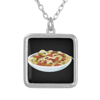 Glitch Food luxury tortellini Silver Plated Necklace
