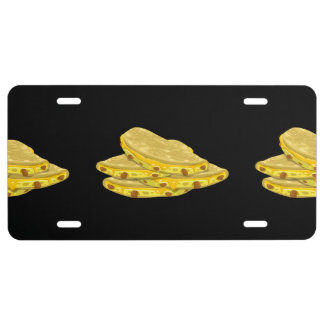 Glitch Food mexicali eggs License Plate