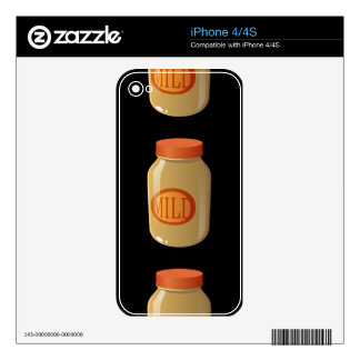 Glitch Food mild sauce Decal For iPhone 4