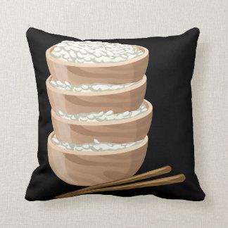 Glitch Food proper rice Throw Pillow