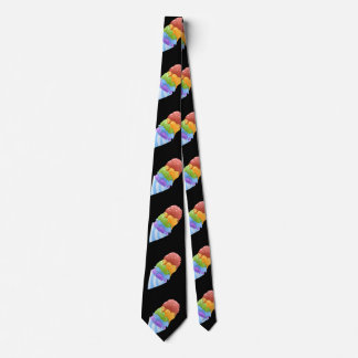 Glitch Food sno cone rainbow Neck Tie