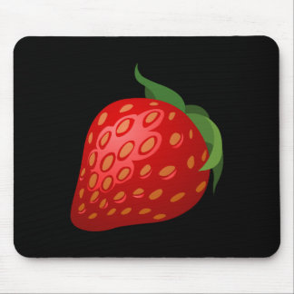 Glitch Food strawberry Mouse Pad