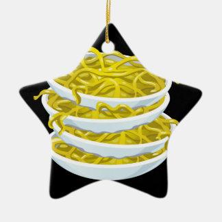 Glitch Food tangy noodles Ceramic Ornament
