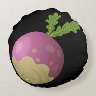 Glitch Food turnip Round Pillow