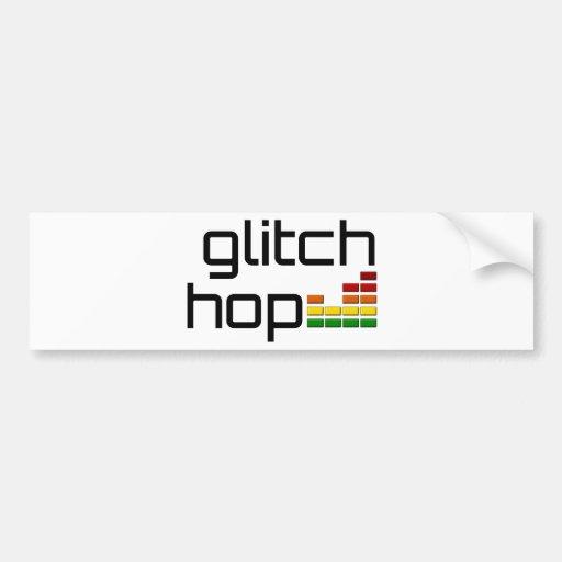 Glitch Hop with Volume Equalizer Car Bumper Sticker