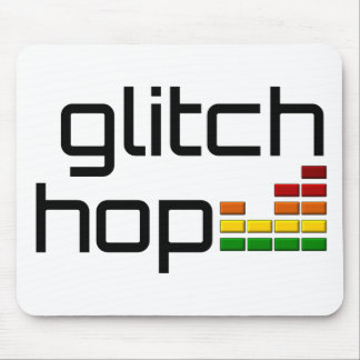 Glitch Hop with Volume Equalizer Mouse Pad