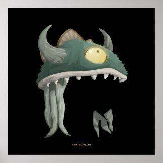 Glitch Lem Mask Poster