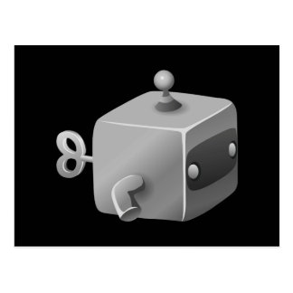 Glitch maintenance bot cubimal postcard