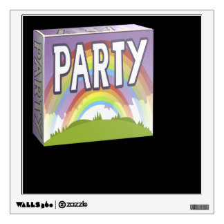 Glitch: party pack double rainbow wall sticker
