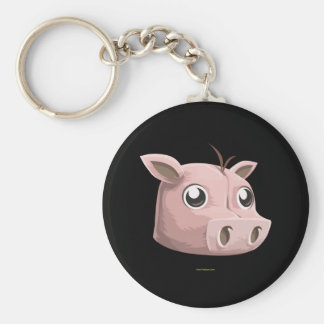 Glitch Pig Mask Keychain