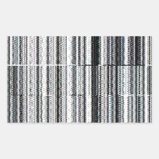 Glitch Rectangular Sticker