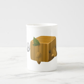 Glitch rube cubimal tea cup
