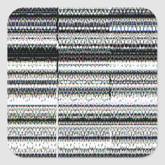 Glitch Square Sticker