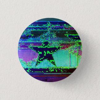 glitch star pinback button