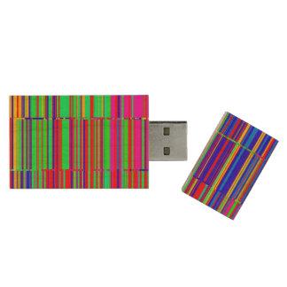 Glitch Wood USB Flash Drive