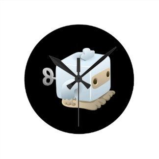 Glitch yeti cubimal round clock