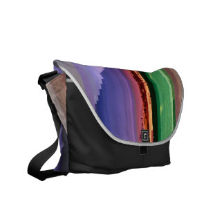 Glitched Long Beach Messenger Bags