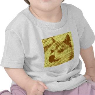 Glitched, pop art halftone design tee shirt