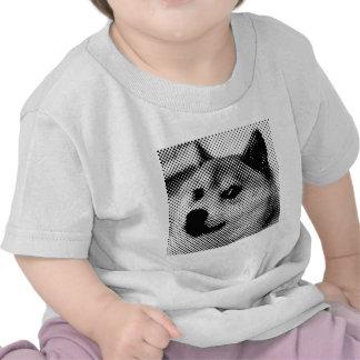 Glitched, pop art halftone design shirts
