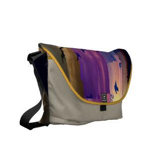 Glitched Venice Beach 2 Messenger Bag
