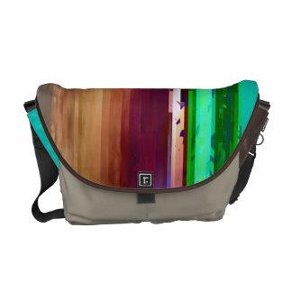 Glitched Venice Beach Messenger Bag