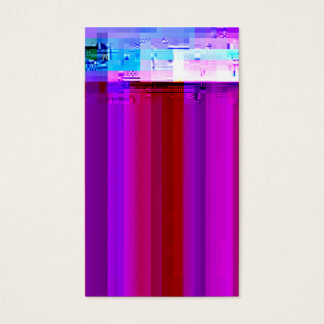Glitched Video Screen Capture No. 1 Business Card