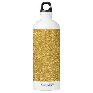glitter4 SANDY NEUTRAL GOLDEN YELLOW BEIGE BACKGRO Aluminum Water Bottle
