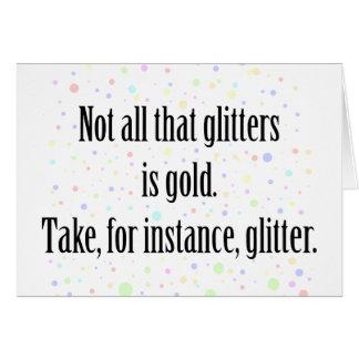 GLITTER 1 CARD