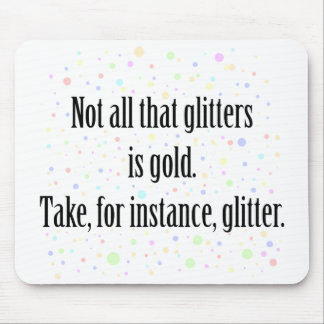 GLITTER 1 MOUSE PAD
