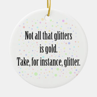GLITTER 1 Double-Sided CERAMIC ROUND CHRISTMAS ORNAMENT