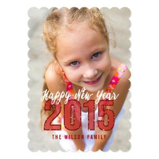 Glitter 2015 | Happy New Year Photo Card