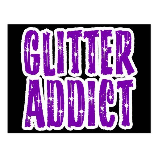 Glitter Addict Crafty Woman Post Card