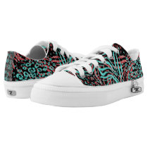Glitter and Animal Print Low-Top Sneakers