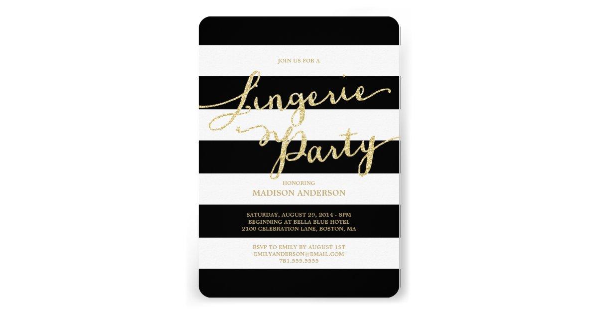 glitter and glam lingerie party invitation. Black Bedroom Furniture Sets. Home Design Ideas