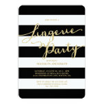 "Glitter and Glam | Lingerie Party Invitation 5"" X 7"" Invitation Card"