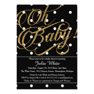Black and white baby shower invitations announcements zazzle glitter baby shower invitation black and white invitation filmwisefo
