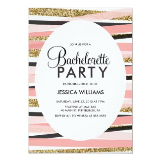 Glitter Bachelorette Party Invitation