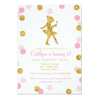 Ballerina Invitations Announcements Zazzle