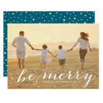 Glitter Be Merry Card