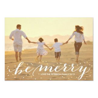 Glitter Be Merry Card