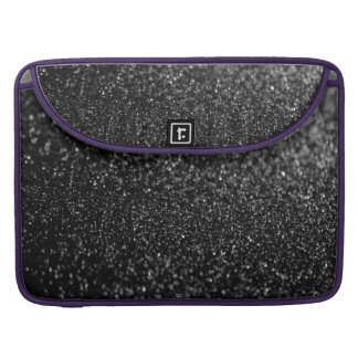 Glitter Black Shiny MacBook Pro Sleeve