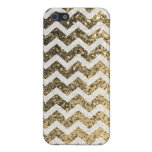 Glitter Bling Sparkly Chevron Pattern (gold) iPhone 5/5S Cases