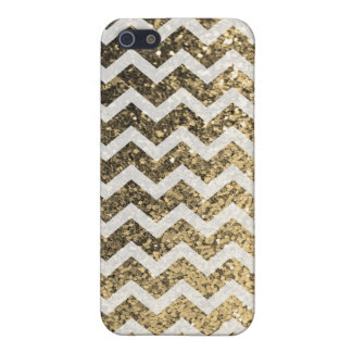Glitter Bling Sparkly Chevron Pattern (gold) iPhone SE/5/5s Cover